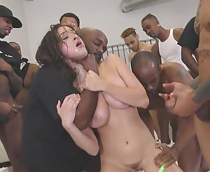 Ashley Adams Gets Her Face Brutally Fucked by BBCs