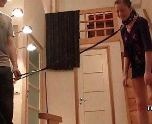 Teen practices restrain bondage