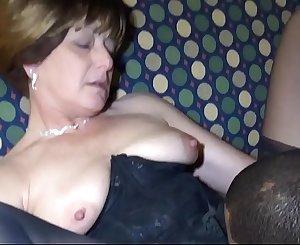 Black man fucks sexy White Brunette Granny