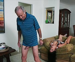 BLUE PILL Dudes - We Get Old Man Johnny An Escort (Aria Rose) To Fulfill His Depraved Fantasies