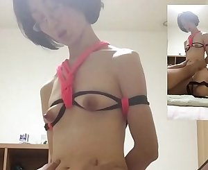 Miyuki who is excited to be seen by everyone who is tied up and having sex