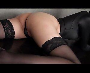 Asahi Sugawara High-leg leotard black and stockings legs,ass-fetish g-spots video solo (Original edited version)