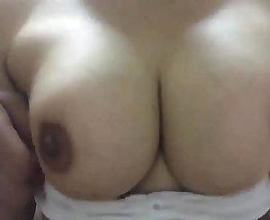 Ankita Having boobs massage from his stepbrother