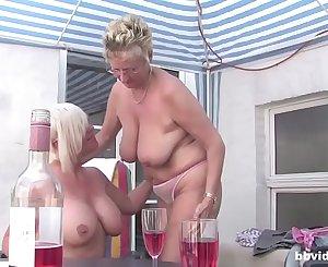 German mature lesbians having an outdoor orgy