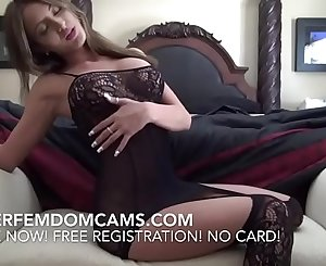Female dom BDSM Findom Kinky Mistress Taunting Slave On Webcam