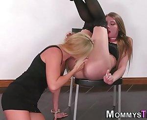 Mature stepmom lesbian