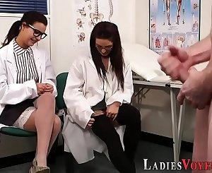 Cfnm femdom doctors watch