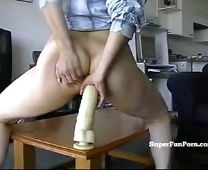 Asian Woman Anal Faux-cock Creampie On Webcam
